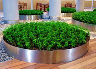China Mirror Polished Round Planter Boxes Stainless Steel OEM / ODM Available factory