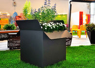 China Painted Black Square Stainless Steel Planters Waterproof American Style  factory