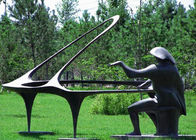 China Playing The Piano Bronze Statue For Home / Hotel / Public Decoration factory