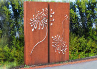 China Corten Steel Metal Wall Sculpture For Indoor Outdoor Decoration 120cm Height factory
