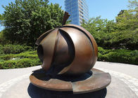 China Modern Park Art Decoration Bronze Apple Sculpture Large Size Anti Corrosion factory