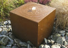 China Metal Yard Art Corten Steel Water Table , Durable Corten Steel Water Fountain factory