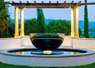 China Mirror Polished Stainless Steel Outdoor Water Features Hemisphere Shape factory