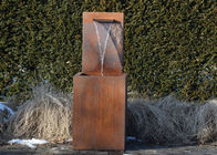 Professional Corten Steel Garden Water Features Fountains 150cm Height