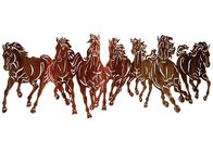 China Modern Style Metal Horse Wall Decor , Running Horses Metal Wall Art factory