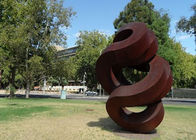 China Spiral Large Rusted Iron Sculpture , Modern Rusted Metal Garden Sculptures factory