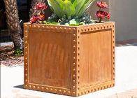 China Commercial Corten Steel Planter Pots For Yard / Garden Corrosion Stability factory