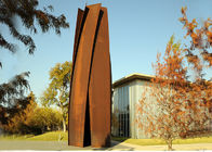 China Anti Corrosion Garden Art Corten Steel Sculpture Column Shape Rusty Finish factory