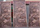 China Bronze Lotus Flower Bas Relief Plaques For Public Wall Art Decoration factory