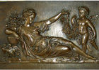 Mother With Angel Wall Art Bronze Relief Casting Surface Finish WS-C485