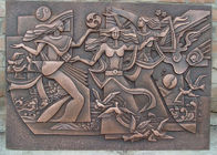 Classical Style Wall Art Bronze Relief Casting Surface Finish Anti Corrosion