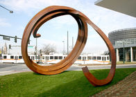 China Large Rusty Surface Corten Steel Sculpture For Outdoor Garden Decoration factory