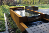 China Shaped Corten Steel Water Feature Rusty Outdoor Modern Sculpture factory
