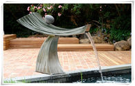 China Pool Ornaments Waterfall Fountain , Stainless Water Feature For The Garden factory