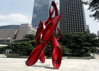 China City Decoration Contemporary Steel Sculpture Painted Finishing Craft factory