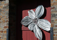 Brushed Finishing Outdoor Metal Sculpture Art Flower Sculptures For Public Decoration