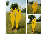 China Modern Metal Outdoor Sculptures / Large Abstract Metal Sculpture 150cm Height factory