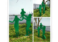 China Outdoor Decorative Painted Metal Sculpture Stainless Steel Family Sculpture factory