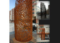 China Metal Laser Cut Corten Steel Sculpture , Rusted Metal Garden Sculptures factory