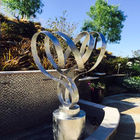Customized Stainless Steel Outdoor Sculpture / Abstract Yard Sculptures
