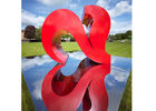 China Modern Painted Sculpture City Decoration Stainless Steel Heart Sculpture factory