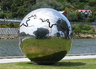 China Large Stainless Steel Outdoor Metal Ball Sculptures for Garden Decoration factory