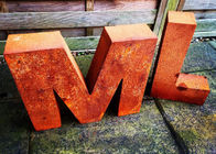 China Garden Art Metal Corten Steel Sculpture Corrosion Stability Letter Outdoor factory