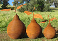 China Rusty Outdoor Decorative Corten Steel Sculpture Metal Art Pear Sculpture factory