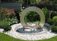 China Garden Design Ring Shape Stainless Steel Sculpture, Water Feature / Fountain company