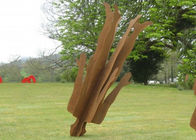 China Outdoor Life Size Corten Steel Sculpture Rusty Garden Metal Figure Sculpture factory