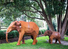 China Out Door Animal Corten Steel Sculpture Elephant Garden Statue Life Size factory
