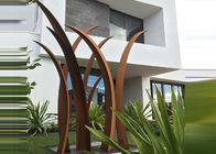 China Residential Garden Landscape Corten Steel Sculpture Reed Design Corrosion Stability factory