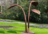 Modern Style Corten Steel Sculpture Abstract Outdoor Garden Leaf Sculpture