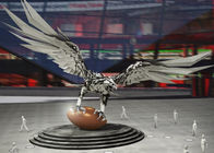 China Large Size Decoration Stainless Steel Metal Sculpture Eagle Sculpture 500cm Height factory