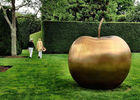 China Large Bronze Statue Apple Sculpture Contemporary For Garden Decoration factory