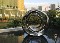 China Durable Spiral Circle Stainless Steel Sculpture For Garden Pool Decoration factory