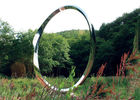 Contemporary Stainless Steel Art Sculptures , Ring Sculpture Polished Finish