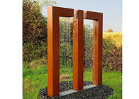 China Garden Decor Gate Design Corten Steel Fountain Water Feature Sculpture factory