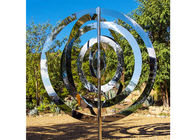China Modern Metal Abstract Stainless Steel Sculpture Artists For Garden Decoration factory
