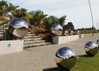 China Mirror Polished Large Outdoor Stainless Steel Sculpture Spheres Garden Use factory