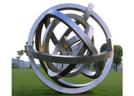 China Metal Large Modern Stainless Steel Garden Sculpture Outdoor Decoration factory