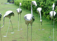 China Garden Decoration Polished Stainless Steel Sculpture Crane Sculpture 100cm Height factory