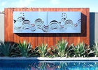 Decorative Outdoor Metal Wall Sculpture Stainless Steel Wall Mounted Screen Custom Size