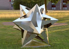 China Wangstone Decoration Stainless Steel Star Sculpture 150cm Height Regular Size factory