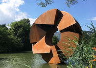Forging Corten Steel Sculpture , Urban Landscape Rusty Metal Sculpture