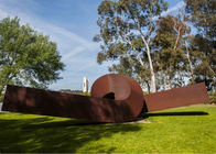 China Twisted Shape Large Decor Corten Steel Sculpture Metal Garden Art Sculpture factory