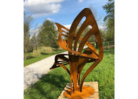 China Rusty Modern Art Metal Outdoor Sculpture Abstract Corten Steel Garden Decorative factory