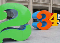 Painted Stainless Steel Number Sculpture For Public , Metal Garden Sculptures