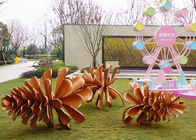 Big Out Door Metal Pine Cone Sculpture Stainless Steel For Garden Decoration