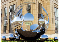 China Unique Design Large Mirror Stainless Steel Sculpture Artists Sphere For Outdoor factory